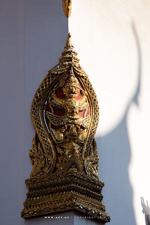 Garuda holding Nagas, Sema, Phra Ubosot, Wat Mahathat
