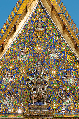 Prince Lakshmana on Hanuman on the Pediment of Phra Mondop, Wat Mahathat Yuwaratrangsarit