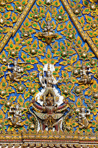 Narayana on Garuda on the Pediment of Phra Ubosot, Wat Mahathat Yuwaratrangsarit