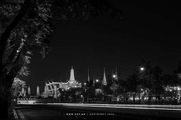 Wat Phra Kaew and Grand Palace during the Royal Cremation for His Majesty King Bhumibol Adulyadej
