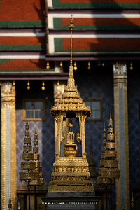 The Royal Emblem of King Rama III in Phra Bussabok, Wat Phra Sri Rattana Satsadaram (Wat Phra Kaew), Grand Palace