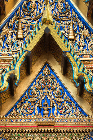 The Insignia of King Rama IV on the Pediment of Phra Vihara Wat Ratchapradit