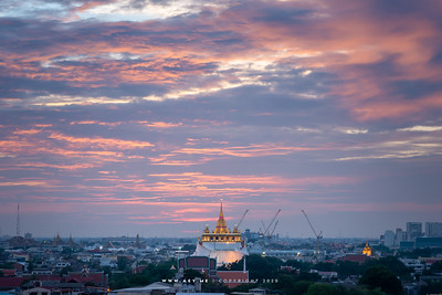 Phukhao Thong, Wat Saket view from  Bobae Tower