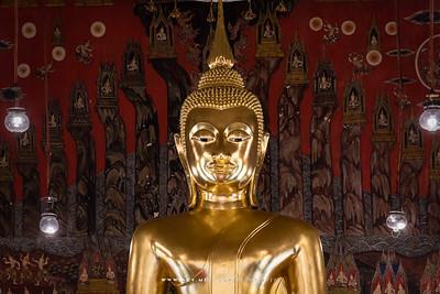 Buddha Statue & Trailokya Mural Painting, Phra Ubosot, Wat Saket