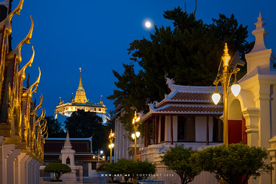 Phukhao Thong, Wat Saket view from Wat Ratchanatdaram
