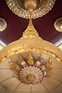 Tiered Umbrella above the Golden Buddha, Phra Maha Mondop, Wat Traimit