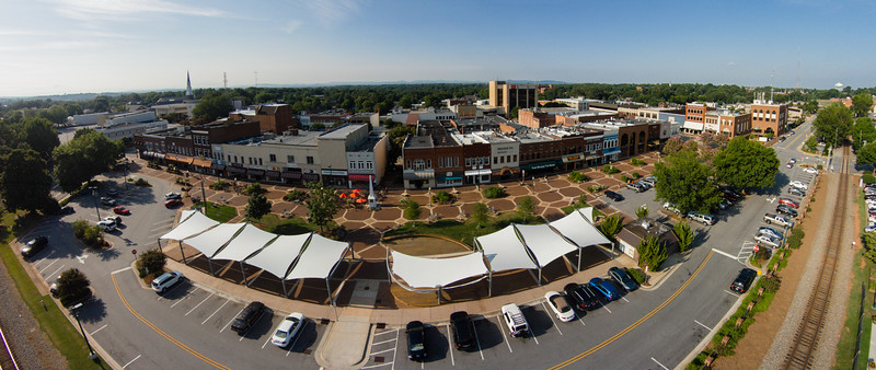 Downtown Hickory | Aerial Panoramic | 2014