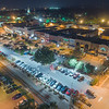 Downtown Hickory | Night Aerial | Long Exposure