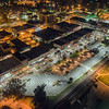 Downtown Hickory_Night Aerials