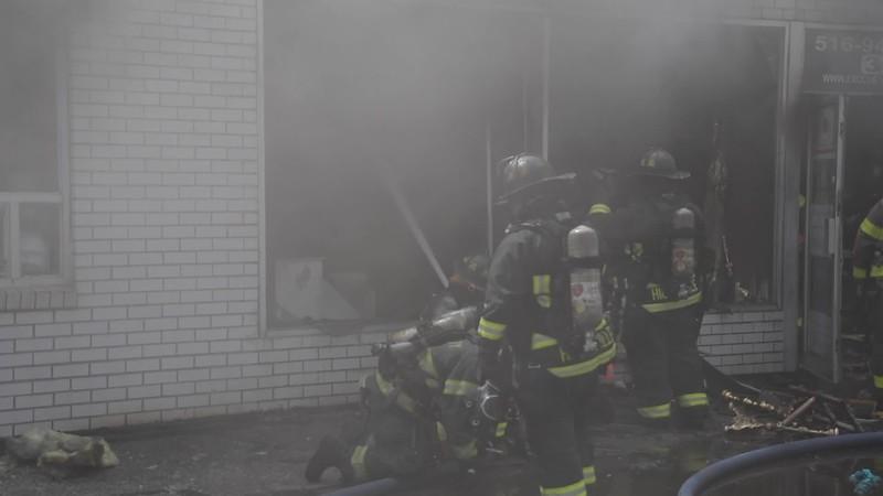 Hicksville Building Fire