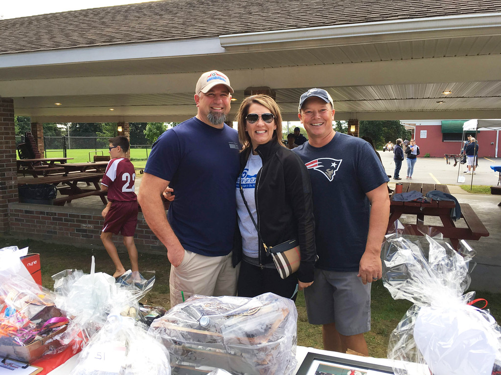 . From left, Marc and Dawn Chandonnet, and Rick Jean, all of Dracut