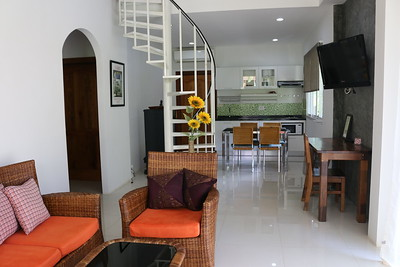 Hidden Cottage Villa Open Plan Lounge Long Beach, Ko Lanta