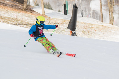 Reese Hughes No.15, From HVRC U12, 2019 Willi's Ski Shop SL on 9th February at Seven Springs, PA