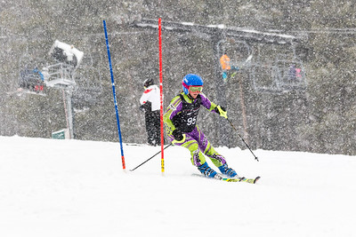 Sydney Willig Bib No. 95 (DCWST) in the DCWST Taylor Made Vacation & Sales SL Race U8-U19 at Seven Springs