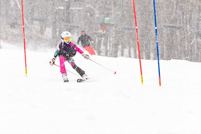 Ava Heidenreich Bib No. 3 (WPRC) in the DCWST Taylor Made Vacation & Sales SL Race U8-U19 at Seven Springs