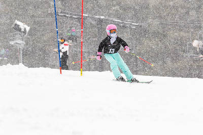 Emma Diianni Bib No. 13 (WPRC) in the DCWST Taylor Made Vacation & Sales SL Race U8-U19 at Seven Springs