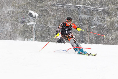 Cole Baughman Bib No. 105 (HVRC) in the DCWST Taylor Made Vacation & Sales SL Race U8-U19 at Seven Springs