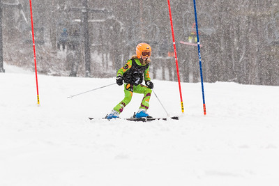 Bryn Wandel Bib No. 2 (WPRC) in the DCWST Taylor Made Vacation & Sales SL Race U8-U19 at Seven Springs