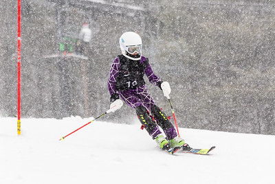 Emily Peck Bib No. 19 (WPRC) in the DCWST Taylor Made Vacation & Sales SL Race U8-U19 at Seven Springs