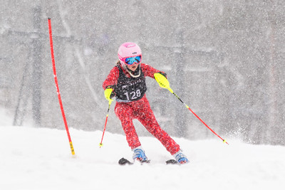 Alyssa Beltz Bib No. 128 (WPRC) in the DCWST Taylor Made Vacation & Sales SL Race U8-U19 at Seven Springs