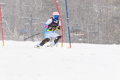 Erin Drahnak Bib No. 20 (HVRC) in the DCWST Taylor Made Vacation & Sales SL Race U8-U19 at Seven Springs