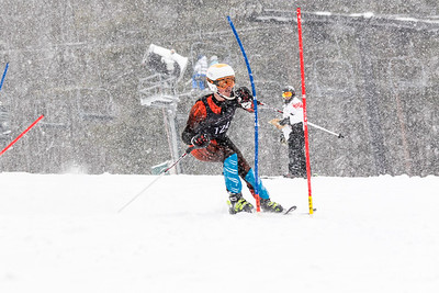 Jack Phelps Bib No. 124 (DCWST) in the DCWST Taylor Made Vacation & Sales SL Race U8-U19 at Seven Springs
