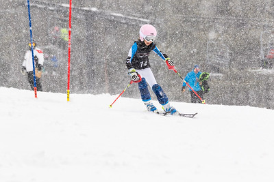 Giuliana Contini Bib No. 14 (WPRC) in the DCWST Taylor Made Vacation & Sales SL Race U8-U19 at Seven Springs
