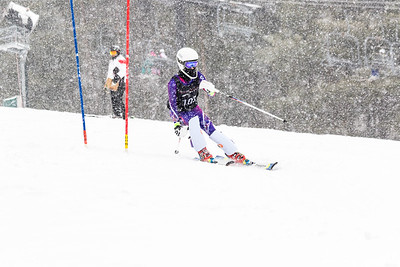 Cara Wood Bib No. 103 (WPRC) in the DCWST Taylor Made Vacation & Sales SL Race U8-U19 at Seven Springs