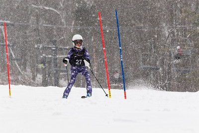 Neave Johnson Bib No. 27 (DCWST) in the DCWST Taylor Made Vacation & Sales SL Race U8-U19 at Seven Springs
