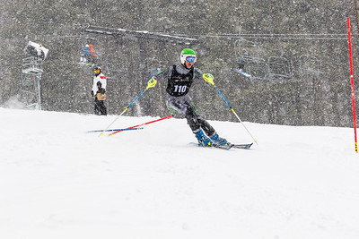 Trey Rouse Bib No. 110 (DCWST) in the DCWST Taylor Made Vacation & Sales SL Race U8-U19 at Seven Springs