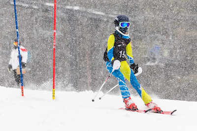Sadie Snyder Bib No. 15 (HVRC) in the DCWST Taylor Made Vacation & Sales SL Race U8-U19 at Seven Springs