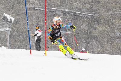 Gabriella Baer Bib No. 131 (WPRC) in the DCWST Taylor Made Vacation & Sales SL Race U8-U19 at Seven Springs