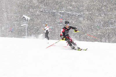 Andrew Kukla Bib No. 117 (HVRC) in the DCWST Taylor Made Vacation & Sales SL Race U8-U19 at Seven Springs