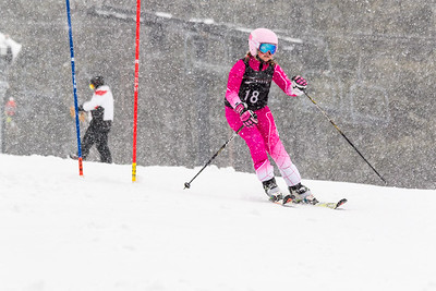 Alexsandra Schmidt Bib No. 18 (DCWST) in the DCWST Taylor Made Vacation & Sales SL Race U8-U19 at Seven Springs