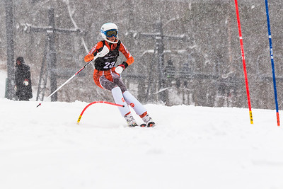 Carolyn Mole Bib No. 23 (WPRC) in the DCWST Taylor Made Vacation & Sales SL Race U8-U19 at Seven Springs