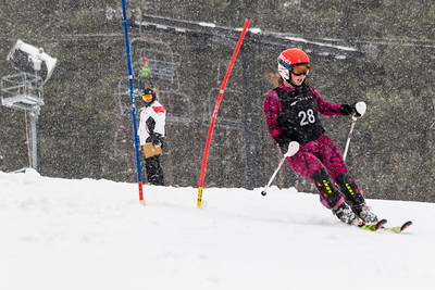 Emily Swan Bib No. 28 (BKST) in the DCWST Taylor Made Vacation & Sales SL Race U8-U19 at Seven Springs