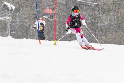 Julia Freudenberg Bib No. 6 (WPRC) in the DCWST Taylor Made Vacation & Sales SL Race U8-U19 at Seven Springs