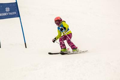 Riley Kramer Bib No. 16 in the Hidden Valley Race Club GS 13th January  2019