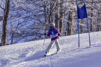 Grace Hughes Bib No. 1 in the Hidden Valley Race Club GS 14th January 2018