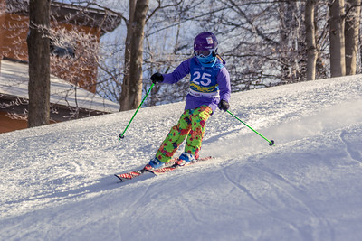 Reese Hughes Bib No. 25 in the Hidden Valley Race Club GS 14th January 2018