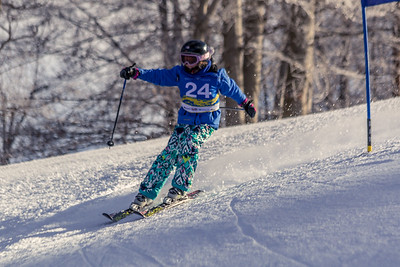Gracie Correll-Hunt Bib No. 24 in the Hidden Valley Race Club GS 14th January 2018