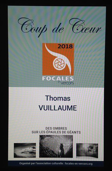 Prix du festival Focales en Vercors 2018