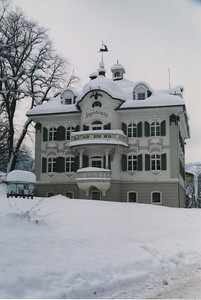 I just loved this snow covered building!