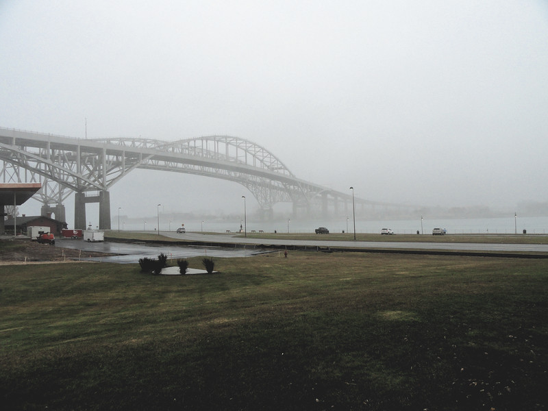 The Blue Water Bridges in the Fog