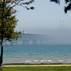 Mackinac Bridge in the Fog