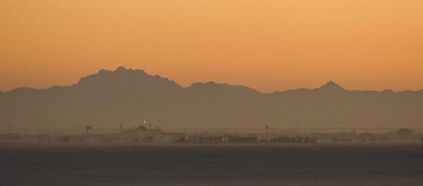 Black Rock City at dawn
