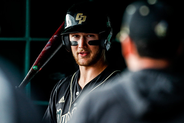 Cal Poly baseball hosted BYU at Baggett Stadium in San Luis Obispo.  Photo by Owen Main 2/22/20