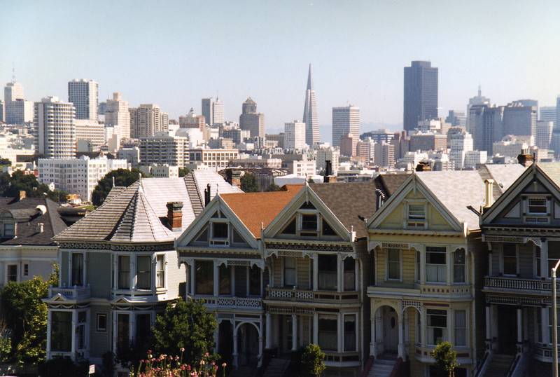 "The ""Painted Ladies"" at Alamo Square"