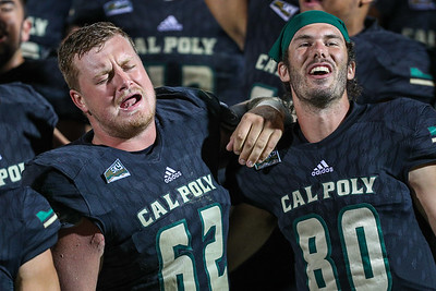 Cal Poly football hosted Brown at Alex G. Spanos Stadium for a non-conference game. 9/14/18  Photo by Owen Main