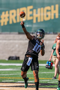 Second day of 2018 Cal Poly Football camp 8/4/189:05:44 AM   Photo by Owen Main